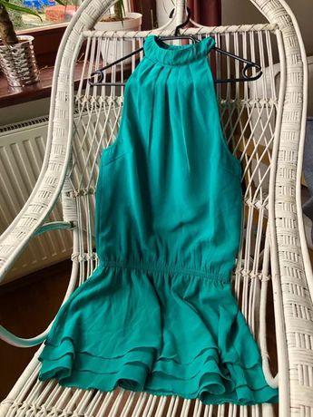 Romantyczna zielona sukienka BodyFlirt Bonprix rozmiar 38