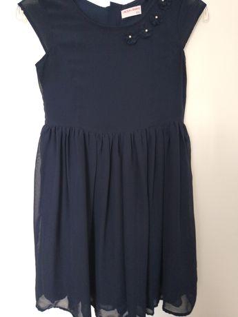 Sliczna granatowa sukienka r.152 , 5 10 15