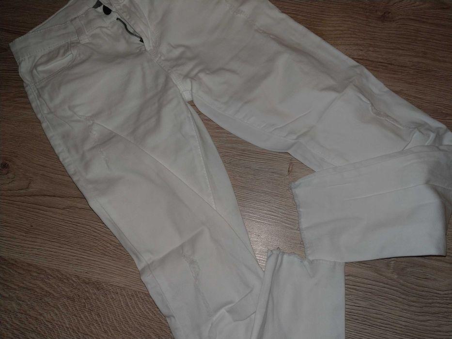 Spodnie białe z lekkimi przetarciami Rabka-Zdrój - image 1