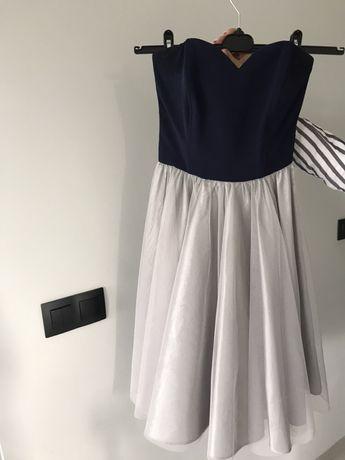 Sukienka tiulowa z gorsetem WHITE HOUSE