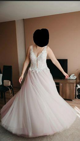 Suknia ślubna pudrowy róż Mona Lissa princessa