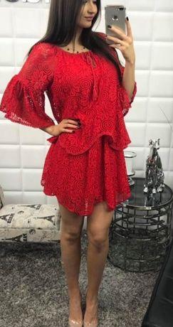 Włoska sukienka koronka Miss Only śliczna sexy uni M-XL -WYPRZEDAŻ !!