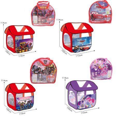 Детская игровая палатка домик 8009 PN Пони Тачки Человек паук