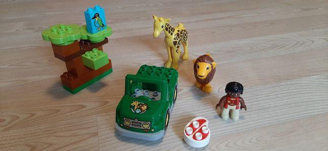 Lego Duplo, auto, figurki, zwierzęta