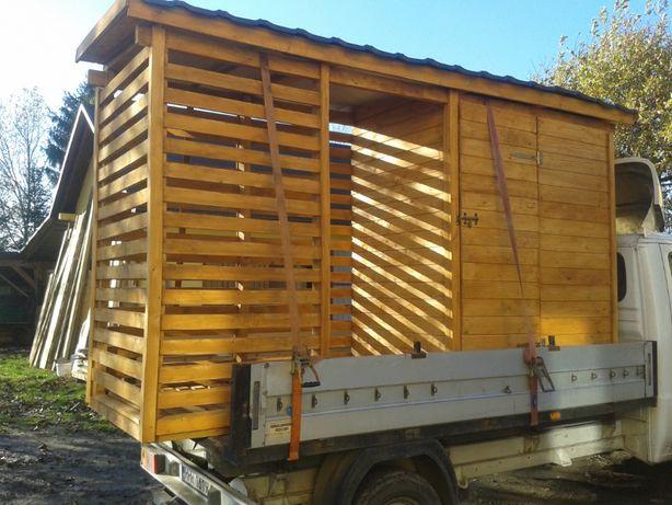 Drewutnia na drewno, wiata garażowa