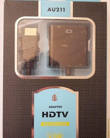 Adaptador HDTV macho para VGA Fêmea