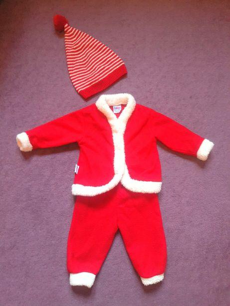 Новогодний костюм комплект деда мороза на новый год next гномика 6-9