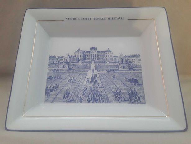 """Porcelana Limoges taca z widokiem,,Królewskiej Szkoły Wojskowej""""Paryż"""