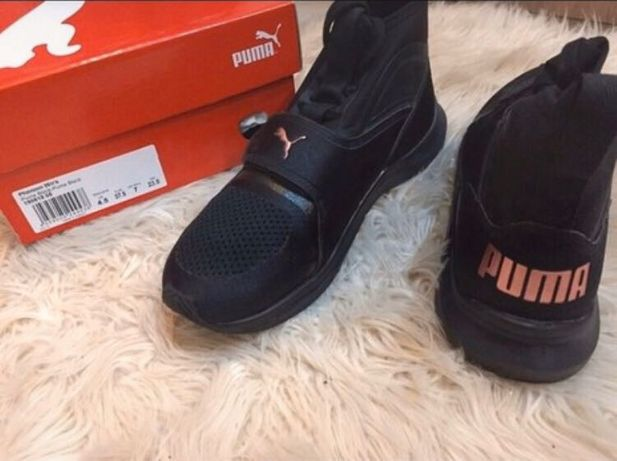 Buty Puma Phenom treningowe czarno różowe