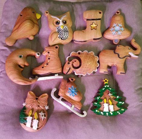 Новогодние игрушки Деревянные Новоричні іграшки з масиву дерева ДубДуб