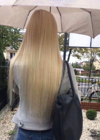 Naturalne włosy rosyjskie 50 cm ringi