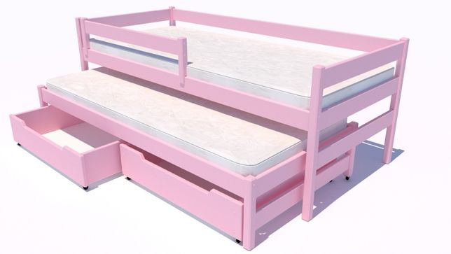 NOWOŚĆ - łóżeczko dziecięce Maxi Premium - 100% drewno sosnowe