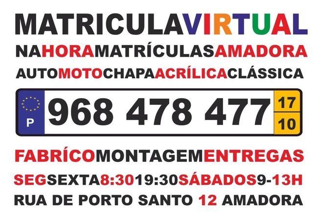 Matriculas 3M carro & moto & tvde