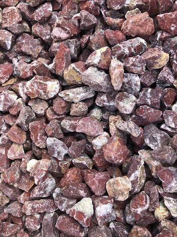 Grys Czerwony Cherry 15-25mm Kamień Ogrodowy Grecki 1000kg Tona Worki