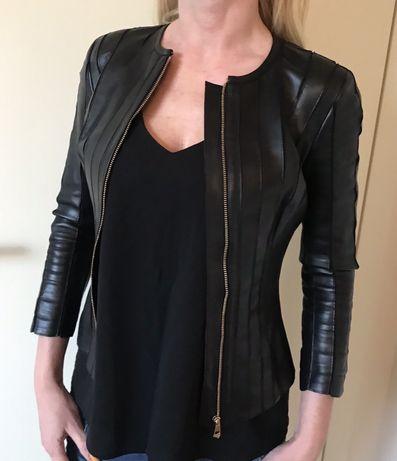 Oryginalna skórzana kurtka Versace Collection