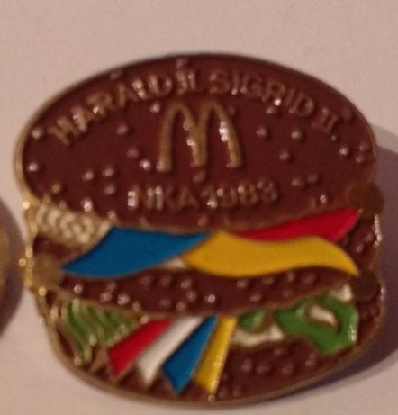 старый значок гамбургер McDonald's 1983