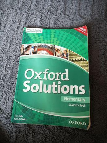 """Książka do języka angielskiego """"Oxford Solutions"""""""