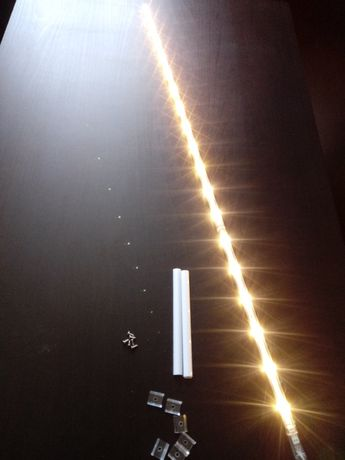 Listwa podszafkowa LED, meblowa, zestaw 3 szt. zasilacz