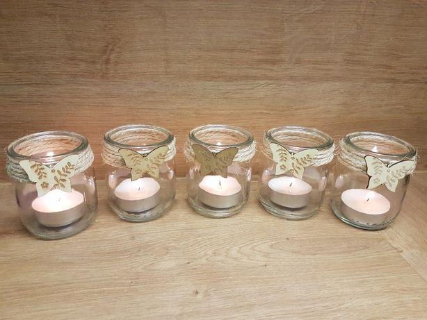 Świeczniki szklane - 10 sztuk