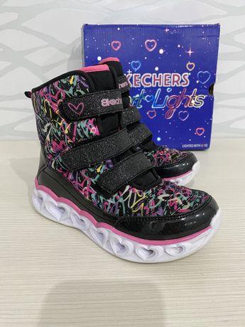 Ботинки skechers скечерс полуботинки кроссовки светящая  3D подошва