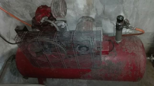 Compressor de pintura e ar de 200 l trifásico