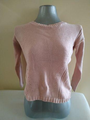 Camisola de malha em rosa claro