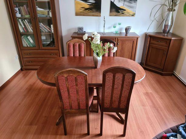stół krzesła stolik duży meble krzesło