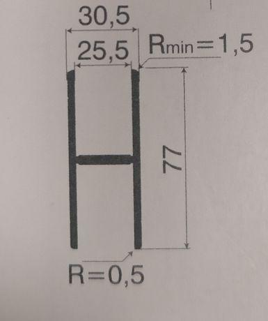 Profil łączący burty aluminiowe