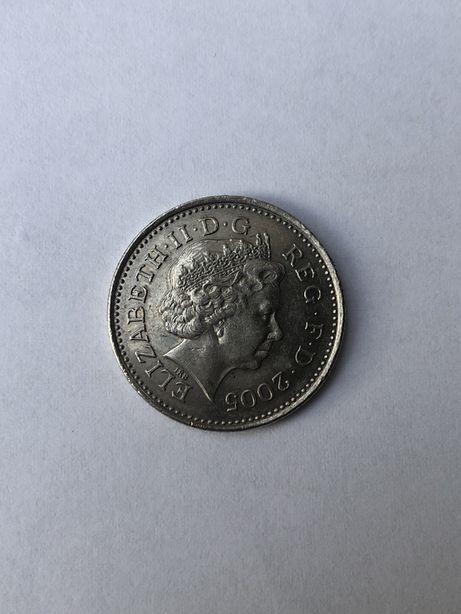 10 pence 2005г.