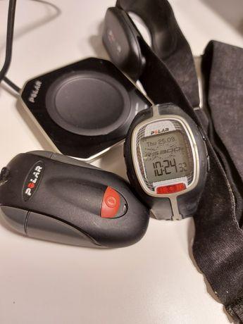 Polar RS300, sprawny, pasek do wymiany zegarek