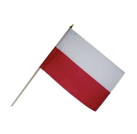 Flagi Polska Hurtownia kij 60cm hurt flaga UE solidarność Promocja