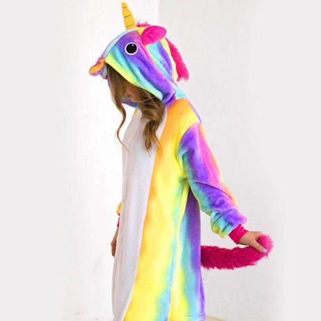 Пижама Кигуруми Радужный Единорог (105-190 см)