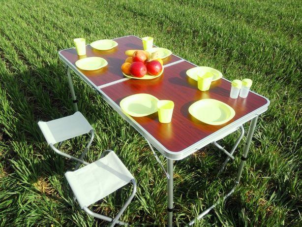 ХИТ!Стол усиленный туристический + 4 стула для пикника,рыбалки, дачи