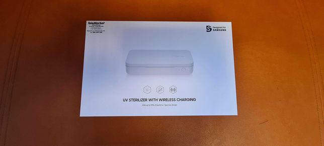HIT Nowa ładowarka bezprzewodowa Samsung + sterylizator UV Gwarancja