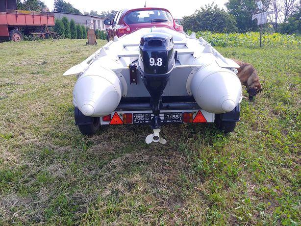 silnik zaburtowy PARSUN 9,8 KM + ponton 320 + przyczepka do pontonu