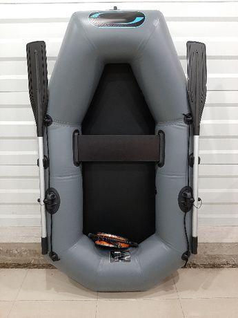 Одноместная гребная лодка надувная из пвх 200 см. Гарантия 5 лет.