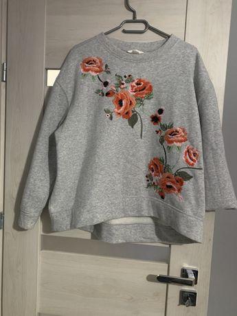 Bluza H&M haftowne kwiaty rozmiar L