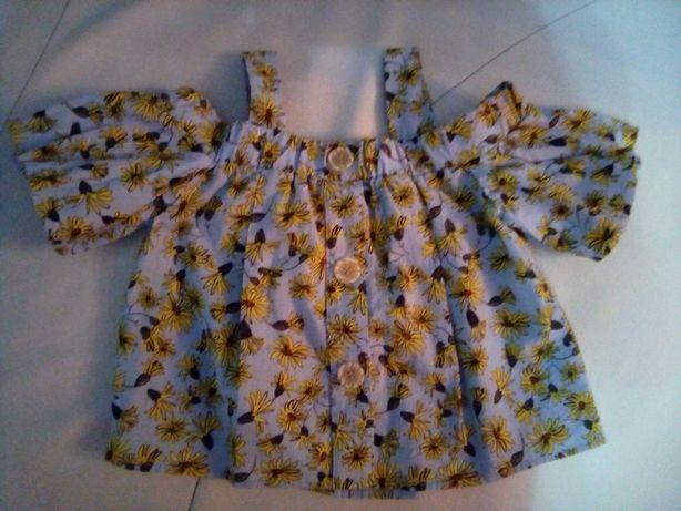 Camisola florida para criança