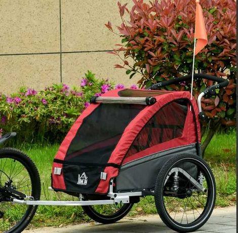 NOWA Przyczepka rowerowa jogger dla dzieci czerwona