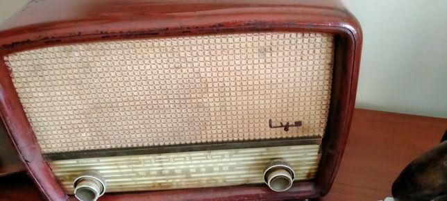 Rádio antigo a funcionar