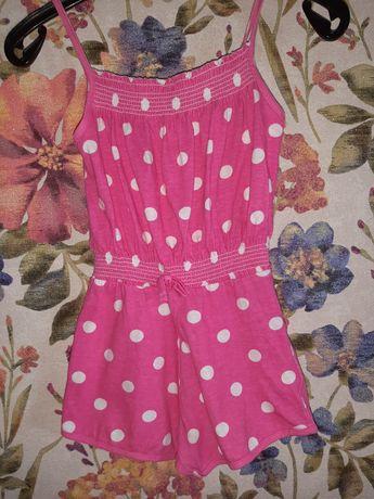 Комбинезон шорты майка YD на девочку 5-6 лет
