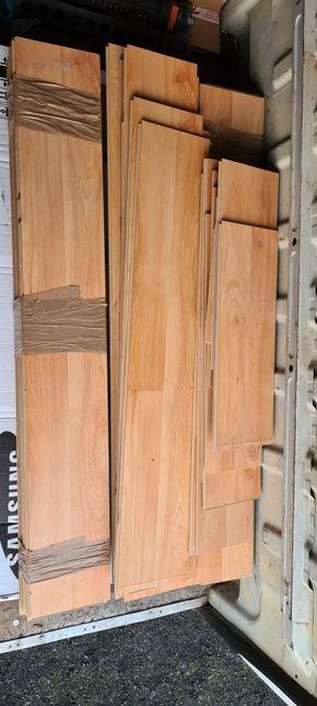 Panele podłogowe z demontażu około 8m2