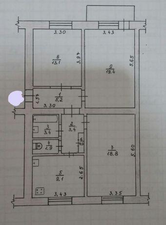 """Продається 3 кімнатна """"сталінка"""" на Київській"""