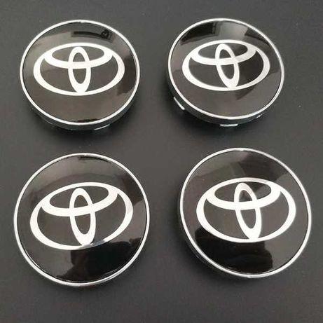 Centros/tampas de jante completos Toyota com 56, 60, 62, 65 e 68 mm