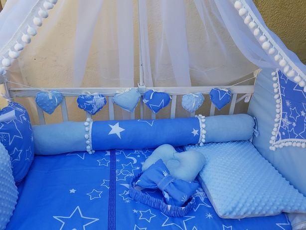 Постельный комплект в кроватку балдахин защита конверт