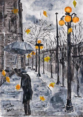 "Obraz "" Pod parasolem"""