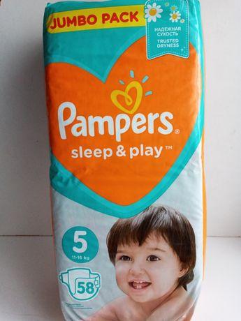 Подгузники Pampers Sleep & Play Размер 5 (Junior) 11-16 кг, 58 шт
