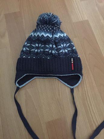 Зимняя шапка на мальчика 4-5 лет