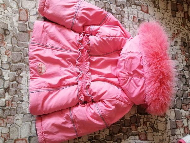 Продам детский зимний комбинезон KIKO, тройка, 98 размер