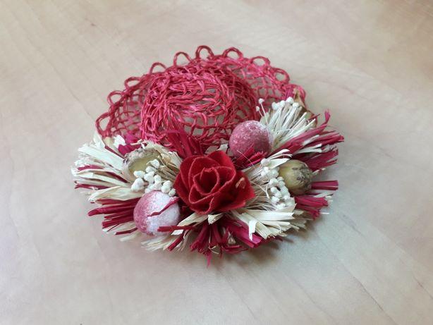 миниатюрная шляпка диаметром 16 см для декора